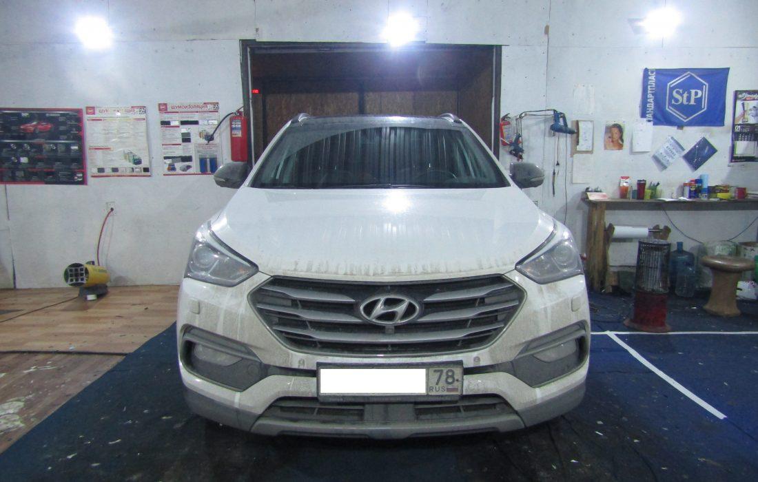 Hyundai Santafe шумоизоляция стоп шум