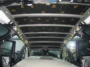 Шумоизоляции крыши Toyota Avensis StopShum
