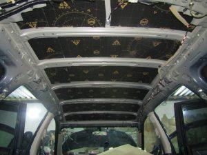 Шумоизоляция крыши Nissan X Trail StopShum