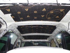 Шумоизоляция крыши Renault Duster StopShum