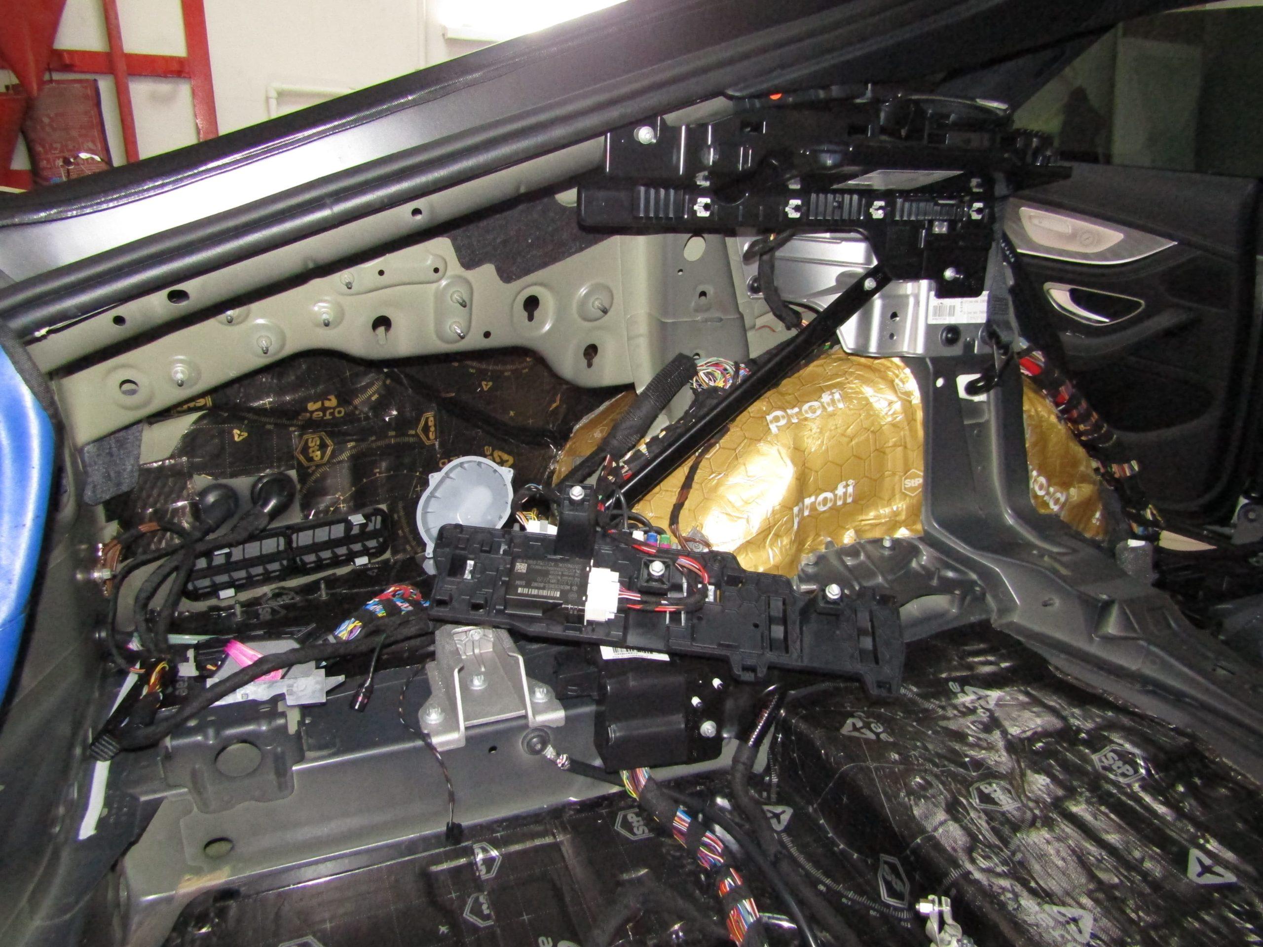 Шумоизоляция Mercedes Gt63 Stopshum